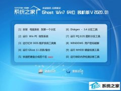 系统之家Win7 64位 修正装机版 2020.01